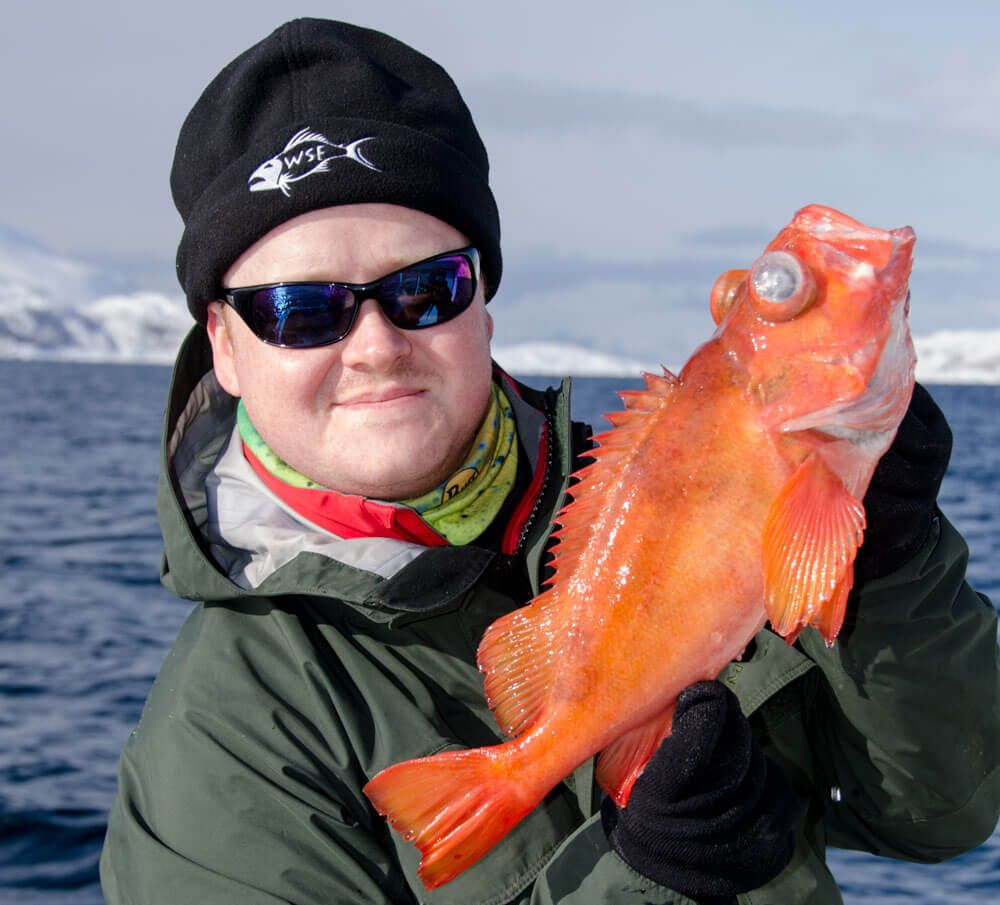 The cool looking red fish!