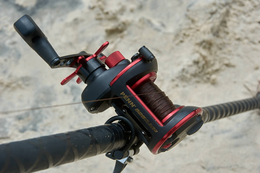 Beach fishing reel